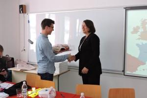 FOTO: Evropska komisarka na črnomaljski srednji šoli