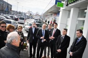 FOTO: Župan si je ogledal novo poslovalnico Delavske hranilnice