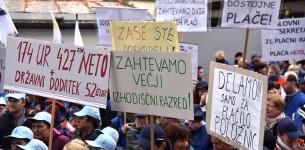 javni sektor hišniki čistilke protest 2