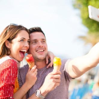 selfie sladoled