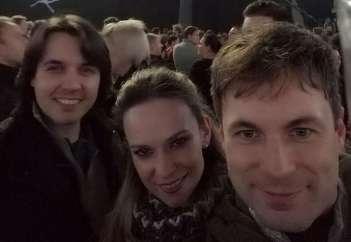 Ylenia Zobec in Tadej Mihelič sta nedavno uživala v razprodanih Stožicah na Magnificovem koncertu.