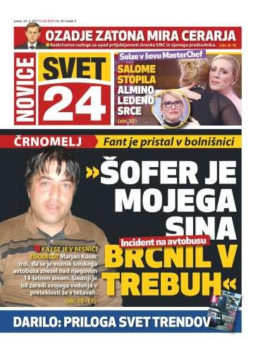 Naslovnica Časopis Svet24 - Št