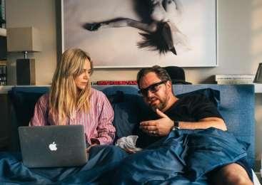 Katarina in Jurij skupaj v filmu