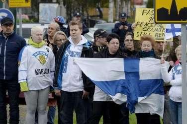 finska, demonstracije