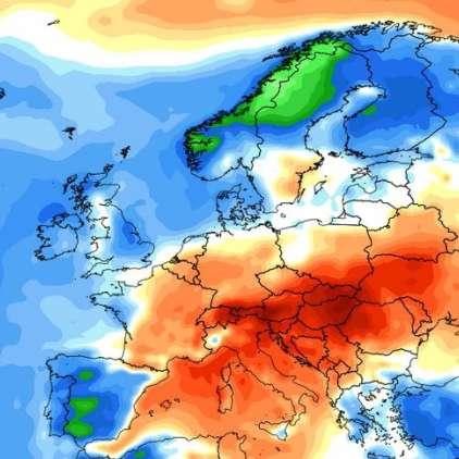 Kje so najvišje temperature v Evropi?