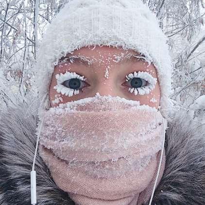 FOTO in VIDEO: Neverjetno, takšen mraz, da je klonil celo vaški termometer