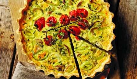 Za prste obliznit: Porova pita z gobami in paradižnikom