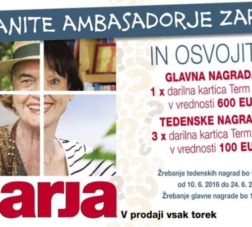 Uganite ambasadorje Zarje!