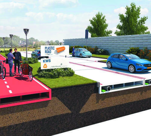 Nizozemci bodo ceste gradili iz morske plastike