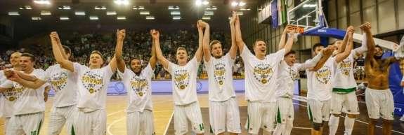 Košarkarji Olimpije po osmih letih spet državni prvaki!