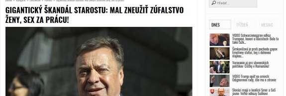 """Seks za službo! O """"gigantskem škandalu"""" Zorana Jankovića pišejo tudi Slovaki"""