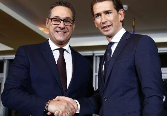Avstrijska ljudska stranka in svobodnjaki predstavili novo vladno ekipo in program