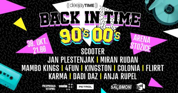 Pomembne informacije: DeeJay Time Back In Time, Stožice (30. oktober)