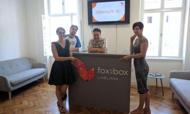 Soba pobega Fox in a Box tudi v Ljubljani