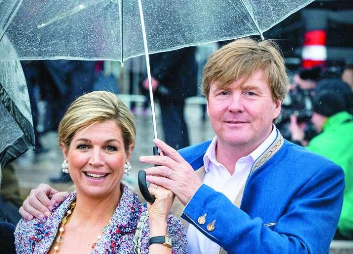 Kralj Willem Alexander o sreči in dežju