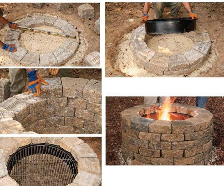 Vrtno ognjišče lahko naredite sami. Kurišče je navadno okrogle oblike, obod pa iz kamenja. Ognjišče lahko vkopljete v tla ali ga postavite na trdo podlago (beton, asfalt).