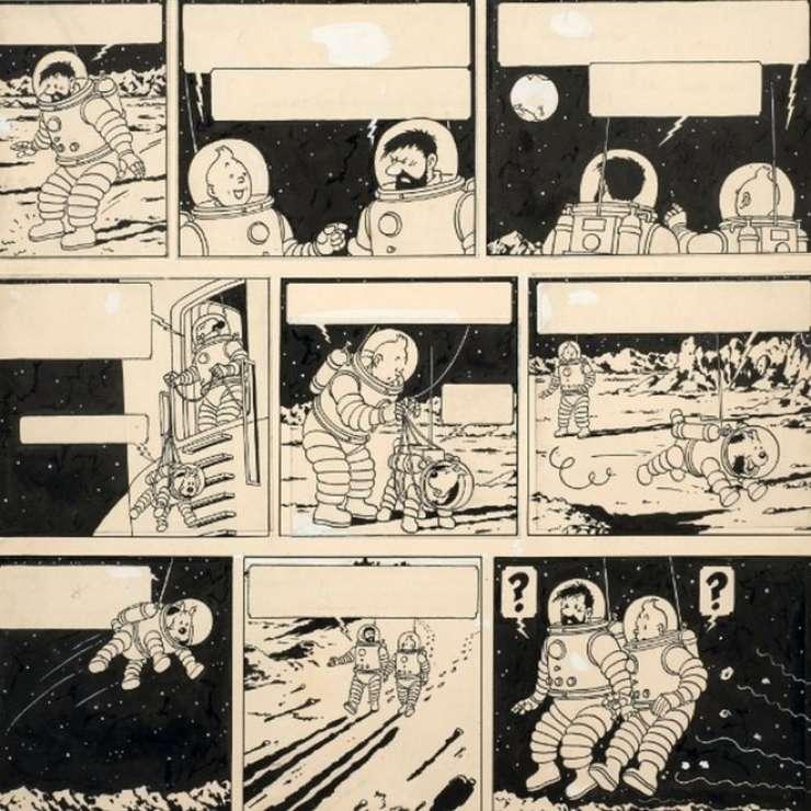Originalno risbo iz stripa Tintin prodali za kar 1,55 milijona evrov
