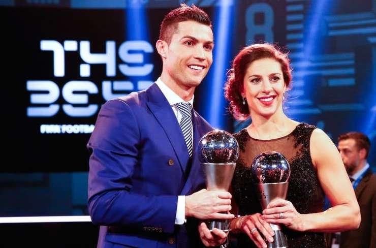 Ronaldo in Carli Lloyd najboljša v izboru Fife