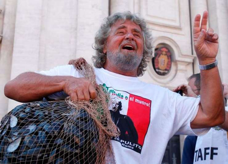 Evropski liberalci nočejo italijanskega evroskeptika Grilla