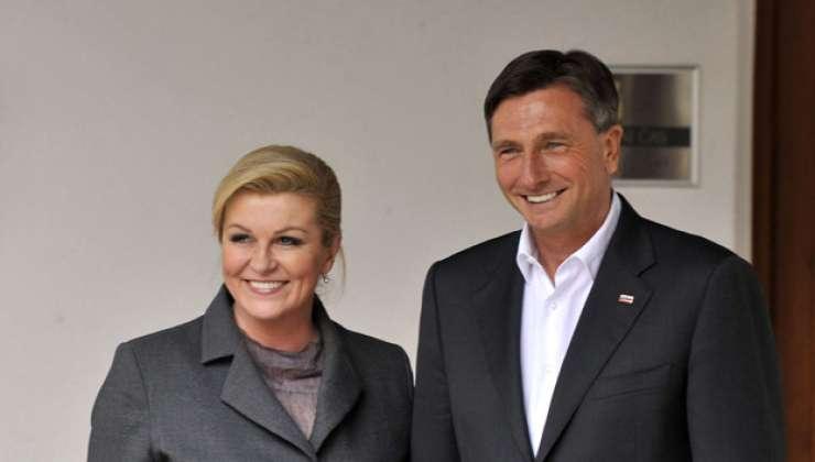 Hrvaška predsednica je Bruslju zatožila Slovenijo, ki naj bi se maščevala Hrvaški