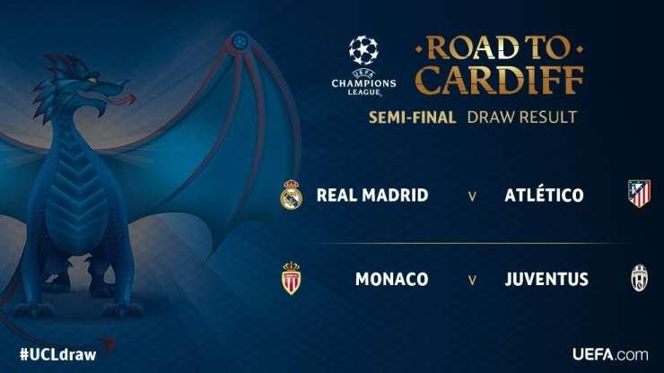 Liga prvakov: Oblakov Atletico z Realom, Juventus proti Monacu