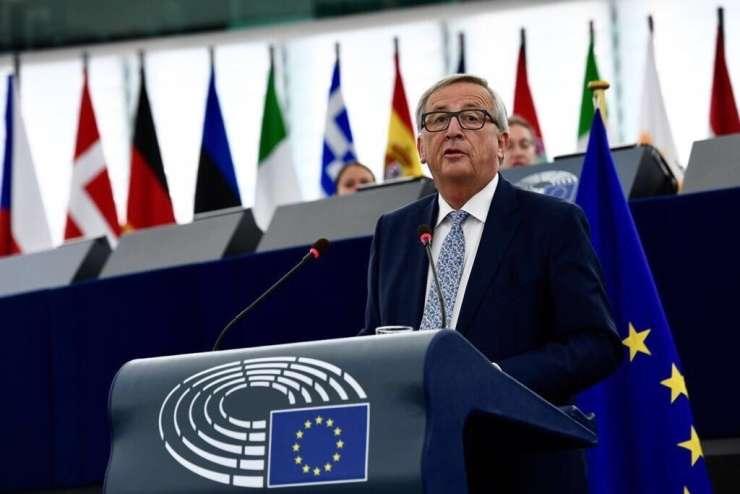 Juncker o EU, ki jo zapuščajo Britanci: Veter je spet v jadrih Evrope