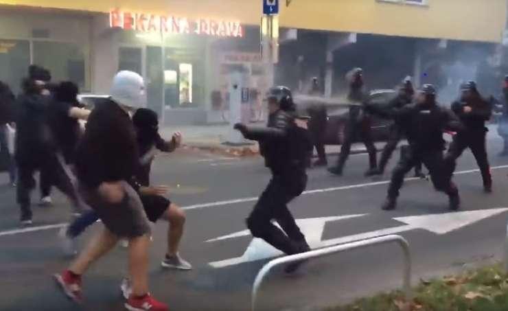 """VIDEO: Kakšne svinjarije so počeli ruski """"navijači"""" v Mariboru"""