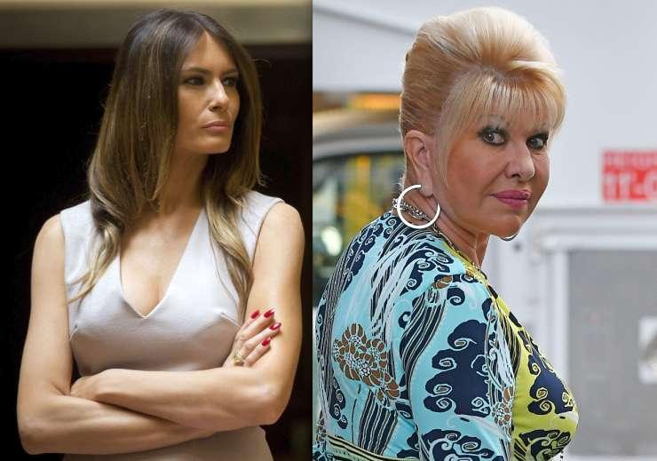 Poglejte, kako se je Melania odzvala na slabo šalo Trumpove prve žene