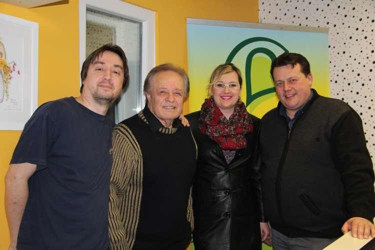 Tony Carter, Alfi Nipič, Branko Novak in njegova spremljevalka.