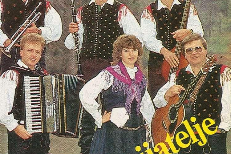 Ansambel Mira Klinca (Franjo Maček zadaj na sredini)