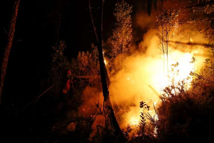 Portugalska, požar
