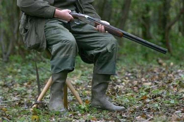 lovec, lov, preža, na preži, lovska puška
