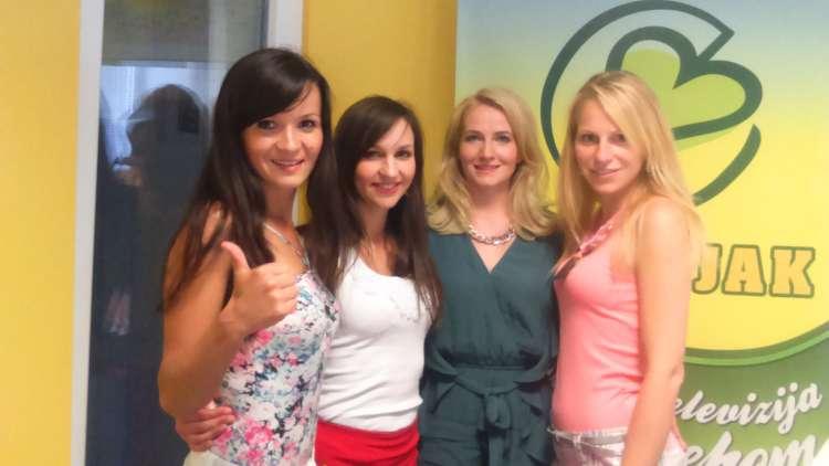 Skupina M.J.A.V. v studiu Radia Veseljak.