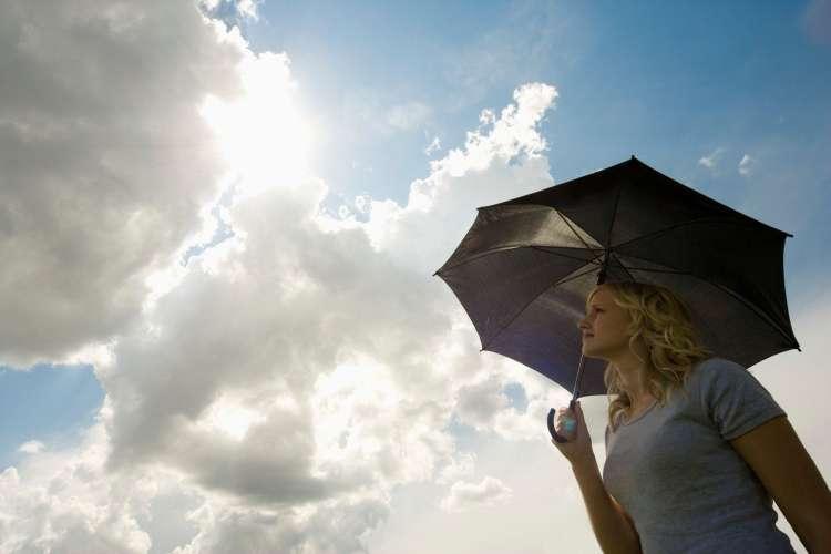 oblak, dežnik, oblačno