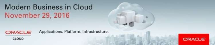 Moderno poslovanje v oblaku Oracle.