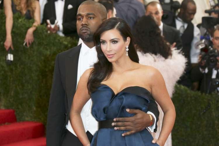 Kim Kardashian in njen mož Kanye West.