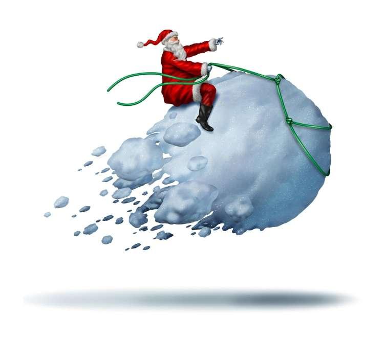 Božiček, božič, snežena, kepa