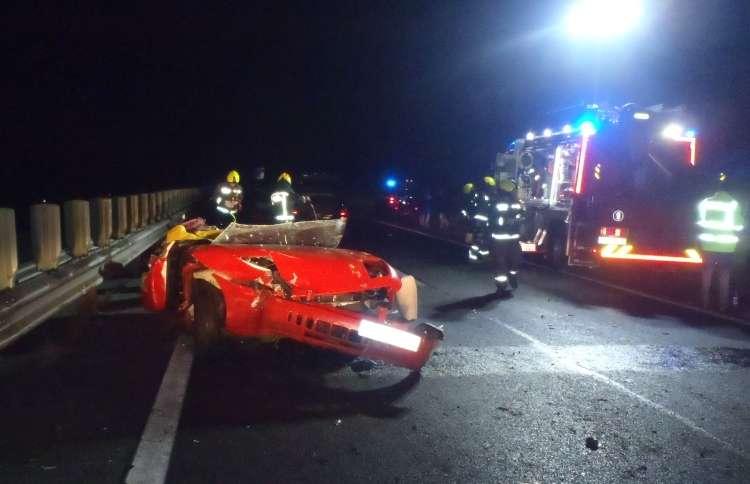Pri Bertokih je prišlo do zelo hude prometne nezgode