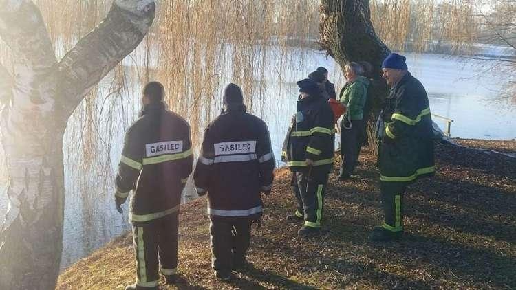poginuli labodi, gasilci, Pragersko, ribnik