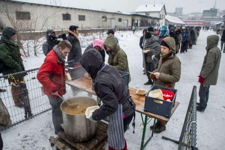 Beograd, migranti, topla hrana, mraz