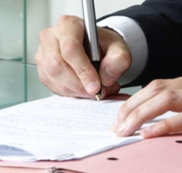 podpisovanje, poslovnež, pogodba