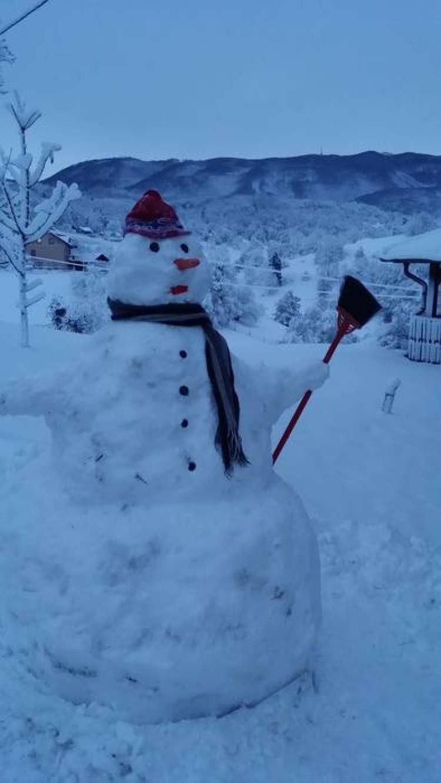 Matej  in podgurski snežak