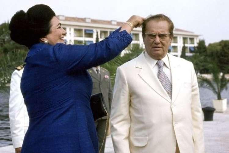 Jovanka Broz in Tito