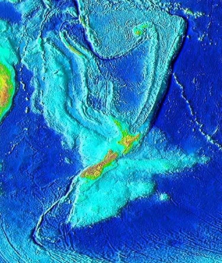 zelandija topografija
