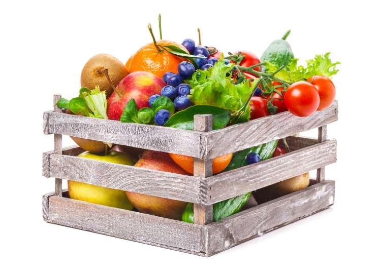 gajbica, zelenjava, sadje