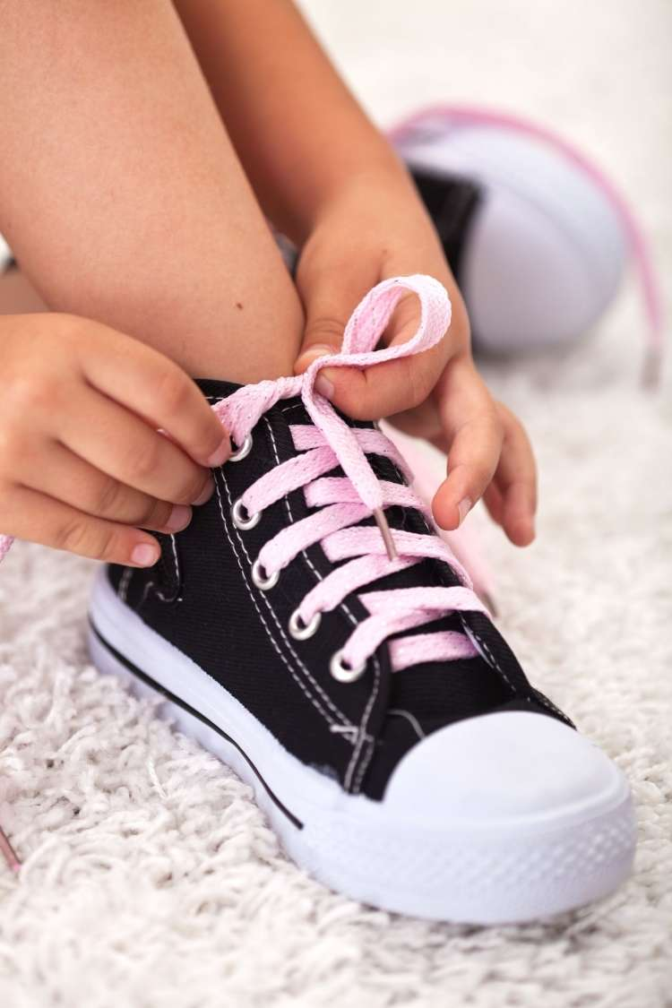 čevlji, otrok, noga