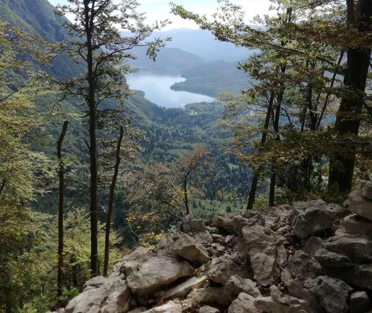 bohinjsko jezero, pogled s komne