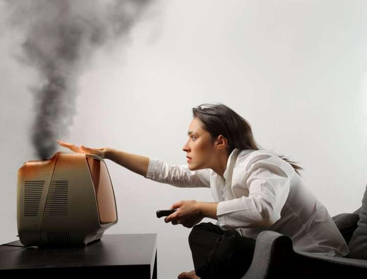 televizija, okvara, dim