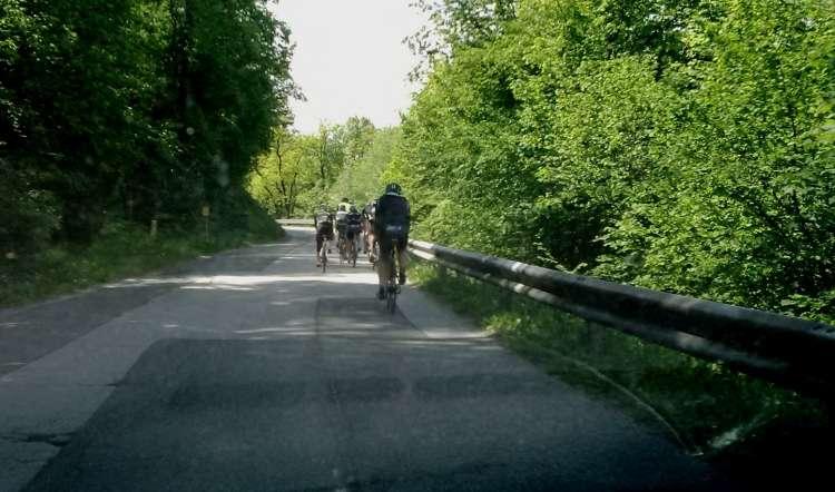 nevarna vožnja, kolo, kolseat, vzporedna vožnja, kolesarji
