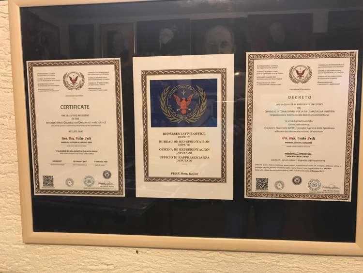 Rajko Ferk, organizacija ICDJ, certifikati